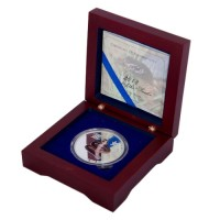 Boxed 1 oz Fine Silver Coloured Year of the Snake